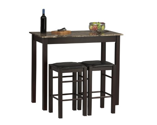 Linon Tavern Collection 3-Piece Table Set (Breakfast With Bar Stools)