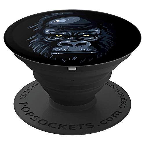 - Best cool funny Gorilla monkey black angry eyes gorilla - PopSockets Grip and Stand for Phones and Tablets
