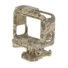MonkeyJack Camouflage Frame Mount Protective Housing Cover for GoPro Hero 5 Camera - Gray