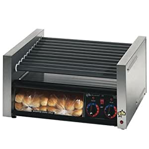 star grill max 30scbbc 30 hot dog roller grill with duratec non stick rollers and. Black Bedroom Furniture Sets. Home Design Ideas