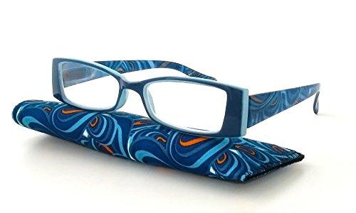 Calabria Victoria Designer Reading Glasses in Blue ; - Blue Glasses Reading