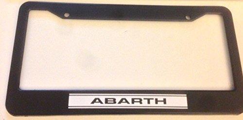 Abarth - Automotive Black License Plate Frame - Racing Turbo
