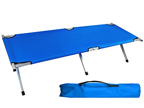 Farbe blue Color:Blau Cuna plegable Resistente Hasta 110 kg Cama plegable Tur/ística Stabil C/ómoda Luz Azul marino Azul Verde 1122