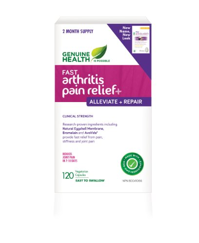 fast arthritis relief+ With NEM Natural Eggshell Membrane (120 Capsules) Brand: Genuine Health by Genuine Health