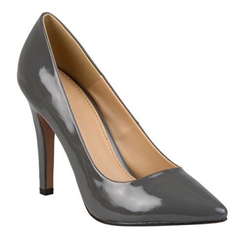 Journee Collection Womens Pointed Toe Matte Finish Pumps Grey Tokyo UZeNqVy