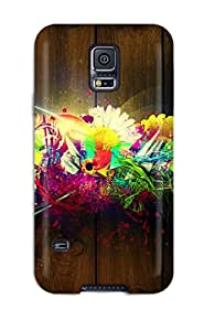 YDBkiKN2133DkYGr Tpu Case Skin Protector For Galaxy S5 Abstract With Nice Appearance