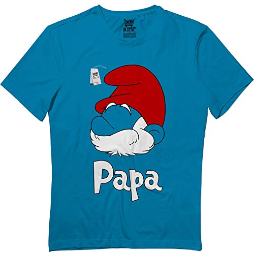 Papa Halloween Blue Outfit Costume Kids Adults Matching T Shirt