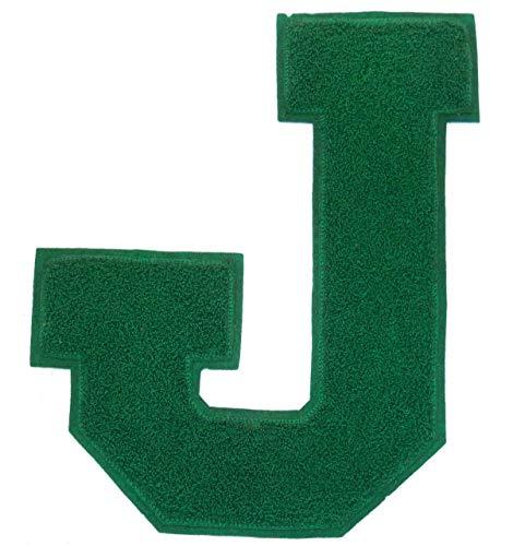 Vintage-Green-ChenilleJ-Varsity-Lettermans-Jacket-Letter-Cloth-Patch