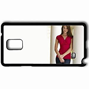 Personalized Samsung Note 4 Cell phone Case/Cover Skin Alina vacariu model brunette actress Black