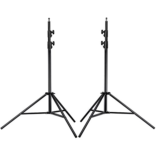 Neewer PRO 9 Feet / 260cm Heavy Duty Aluminum Alloy Photography Photo Studio Light Stands Kit for Video, Portrait and Photography Lighting (2 Pieces) 12' Wide Pedestal Guard
