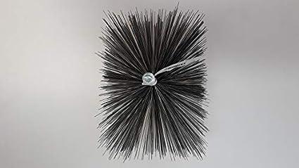 Cepillo de alambre de acero de forma definida, para limpiar chimenea, calderas, en calidad de deshollinador profesional: Amazon.es: Bricolaje y herramientas