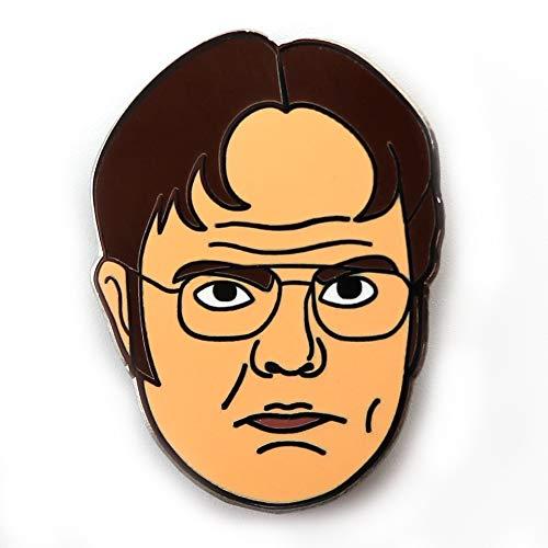 - Toyzero Supply Dwight Schrute Meme Face Office Enamel Pin
