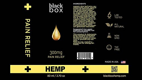Black-Box-Hemp-Full-Spectrum-Hemp-Extract-Relief-Gel-Massage-Lotion-300mg-Joint-Relief-27oz-Bottle