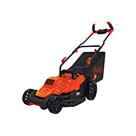 Black & Decker 12-Inch 3-in-1 Trimmer/Edger and Mower 38 IMPROVED ERGONOMICS: Comfort grip handle makes the lawn mower easy to maneuver BETTER CLIPPING COLLECTION: Our winged blade achieves 30% better clipping collection NO MORE PULL CORDS: Push-button start makes starting the lawn mower a breeze