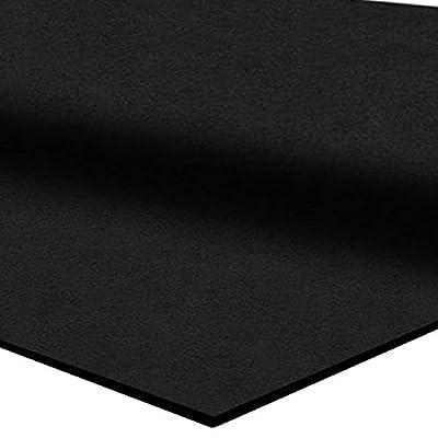 """IncStores 3/8"""" Heavy Duty Gym Flooring Rubber Rolls (40 sqft, 4' x 10')"""