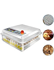 Hatching Egg Incubator 64&16 Eggs Digital Mini Automatic Incubators with Turner for Hatching Turkey Goose Quail Chicken Eggs,Built-In Egg Candler Tester,Small Egg Hatcher Machine by Safego