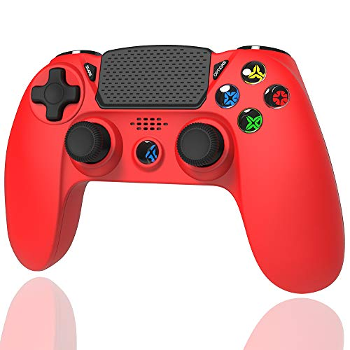 TUTUO Wireless Controller for PS4, Wireless Joystick Gamepad Touch Panel Controller with Dual Vibration Shock and…