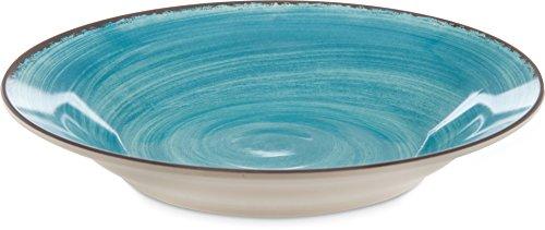 Carlisle 5400315 Mingle Melamine Rimmed Soup Bowl, 28.5 Oz, Aqua (Set of 6)