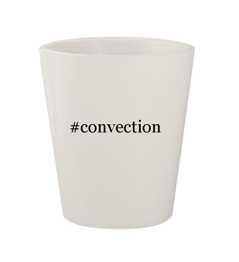 #convection - Ceramic White Hashtag 1.5oz Shot Glass