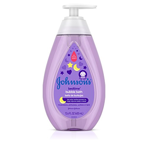 Johnson's Baby Hypoallergenic Bedtime Baby Bubble Bath with Natural Calm Aromas, 13.6 Fluid Ounce (Pack of (Baby Bubble Bath)