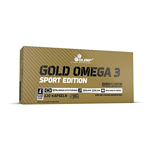 Olimp Gold Omega 3 Sport Edition - 120 Kapseln - Nahrungsergänzungsmittel mit Fettsäuren und Vitamin E