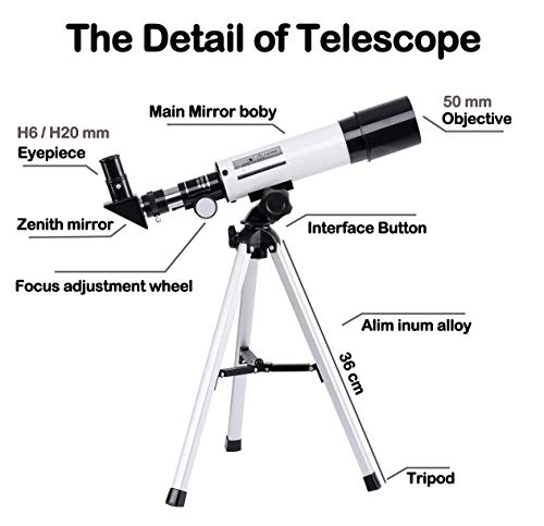 Astronomical Telescope Zoom 90X HD Portable Monocular Telescopes Outdoor Space Refractor Spotting Scope With Tripod for Kids Children Beginners
