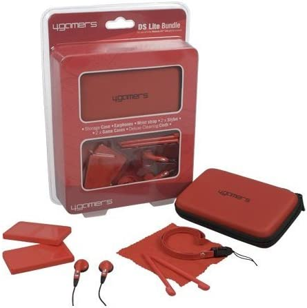 4Gamers Red Accessory Bundle for DS Lite/DSi (Nintendo DS ...