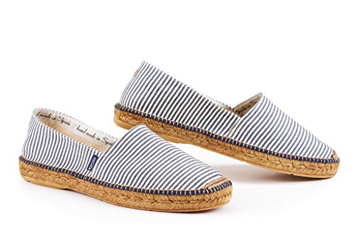 VISCATA Barcelona Sitges - BlueWhiteSTR EU46 Classic Luxury Mens White Shoes