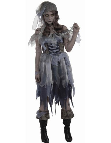 Zombie Female Pirate Costume - Standard - Dress Size 6-12 - Female Pirate Costumes Ideas