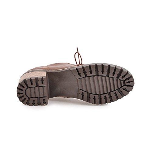 Marron 37 SXC02429 Sandales EU 5 AdeeSu Compensées Femme t1Sw6qf