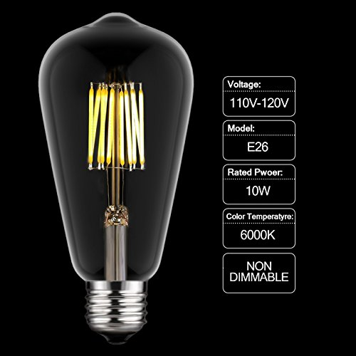 A19 Led Filament Bulb 4 Watt Dimmable 40w Equiv 470: Top 10 Best Vintage Edison LED Light Bulbs Reviews 2019