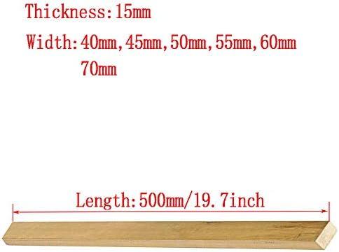 Asitlf Brass Flat Bar 500mm / 19.7inch H59 CU Copper metalen plaat Model DIY Crafts Panel Dikte 15mm,Width 50mm