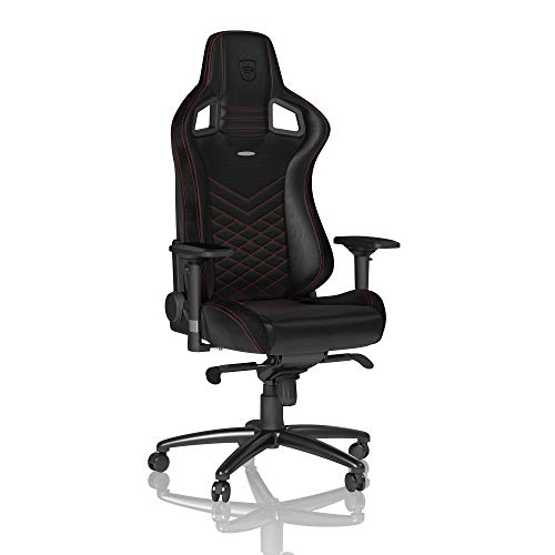 noblechairs Epic Gaming Chair - Office Chair - Desk Chair - PU Leather - Black/Red noblechairs