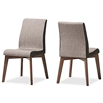 Baxton Studio Kimberly Upholstered Dining Chair In Gravel (Set Of 2)