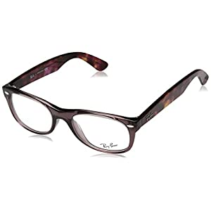 Ray-Ban RX5184 New Wayfarer Eyeglasses Opal Brown 50mm