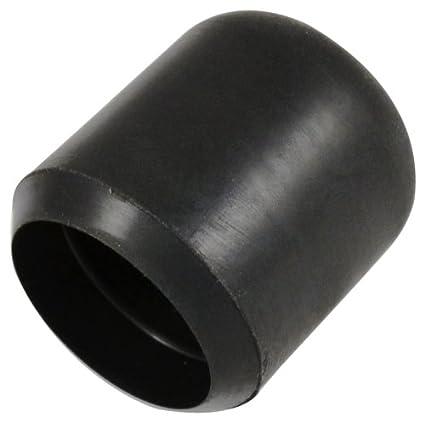 Bulk Hardware - Taco protector para pata de silla (16 mm, 8 unidades), color negro