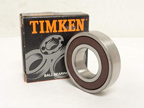 Timken 206PP Ball Bearing, Double Sealed, No Snap Ring, Metric, 30 mm ID, 62 mm OD, 16 mm Width, Max RPM, 2550 lbs Static Load Capacity, 5000 lbs Dynamic Load Capacity