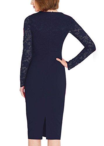 Robes Midi Bureau Des Femmes Ssyiz Personnalisés, Robe Crayon Pour Les Femmes Navyblue
