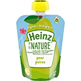 Heinz by Nature Organic Baby Food - Pear Purée - 128mL Pouch (Pack of 6)