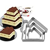 3 Tier home Multilayer Anniversary Birthday Cake Baking Pans,Stainless Steel 3 Sizes Rings Ginger Man-Shapes Molding Mousse Cake Rings(Ginger Man-shapes,Set of 3)