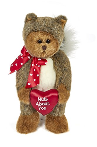(Bearington Nuts About You, Valentines Stuffed Animal Teddy Bear in Squirrel Suit, 13)