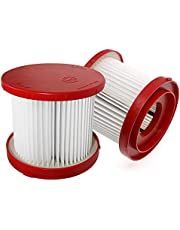 2 Pack Wet & Dry Filter for Milwaukee 49?90?1900 Vacuum Cleaner Replace 0780-20/0880-20