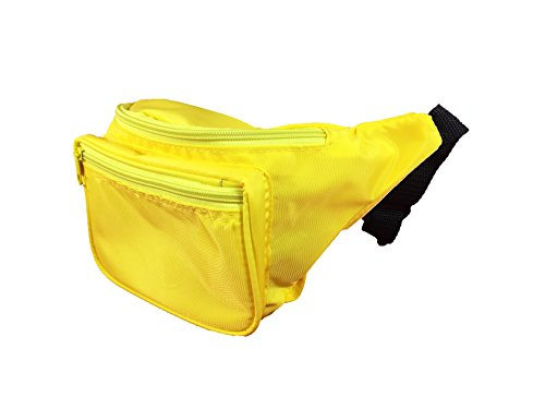 Sunflower Fanny Pack - Hip Bag In Bright Colors For Outdoors Activities (Canary Yellow)