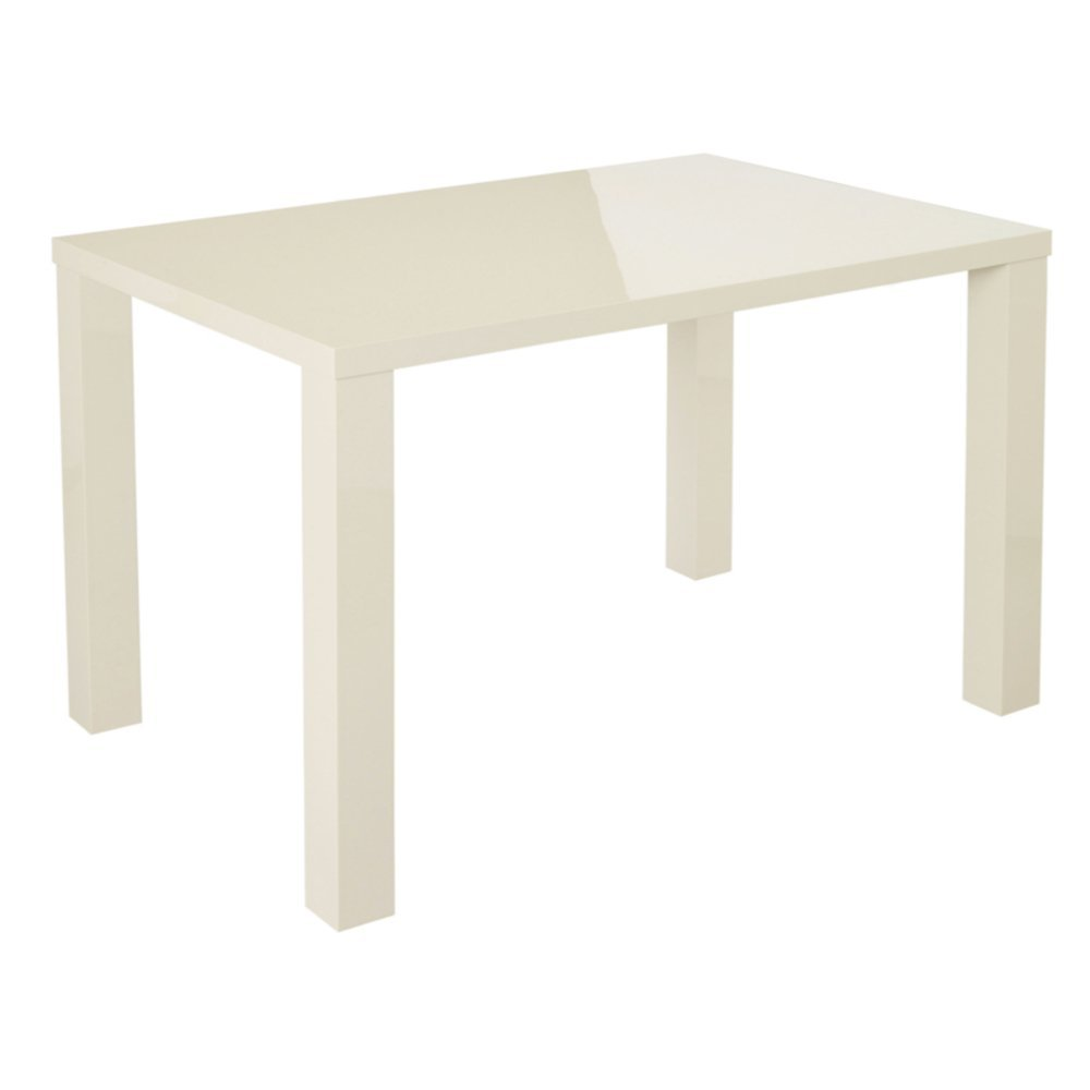 Monroe High Gloss Medium Table (4 Seater) (Cream) LPD