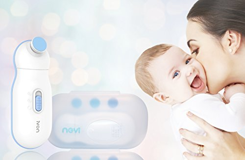 Nevi Electric Baby Nail Clipper- Safe and Efficient Baby Nail File for Newborn or Toddler Toes and Fingernails- Nail Care Gift for New Mom by Nevi