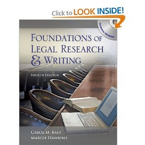 Foundations of Legal Research and Writing 4th (Fourth) Edition byHawkins