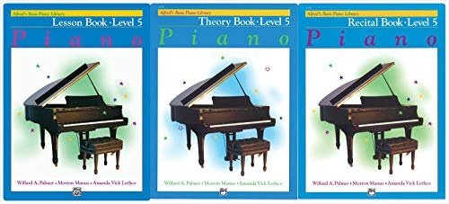 Alfred's Basic Piano Library: Level 5 Books Set (3 Books) - Lesson Book 5, Theory Book 5, Recital Book 5 ()