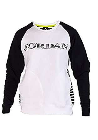 Jordan Men's Nike AJX Accomplished Crew Sweatshirt-Black and white-2XL