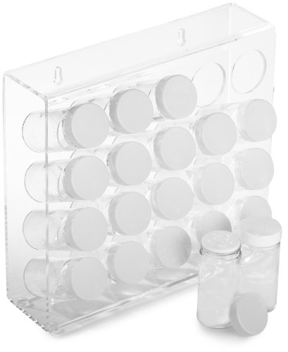Optional Spice Rack - Prodyne Acrylic 20 Bottle Spice Rack, White