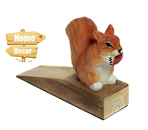 Friendly House Decorative Doorstop Squirrel